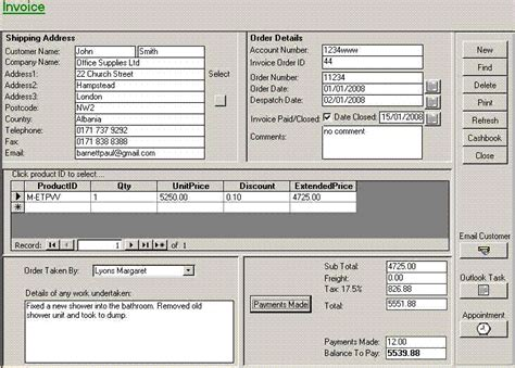 ms access invoice  quotation billing system ms access