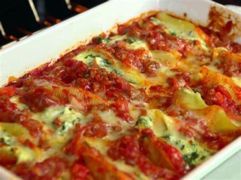 spinach  ricotta stuffed shells recipe jamie deen