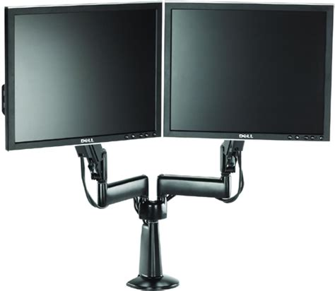 desk mount monitor arm dual chief kcy220 height adjustable dual arm desk mount dual