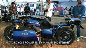 Motorcycle Built Using Maruti 800 Engine And Parts