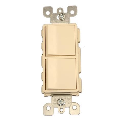 leviton 15 decora commercial grade combination two 3 way rocker switches light almond 5643