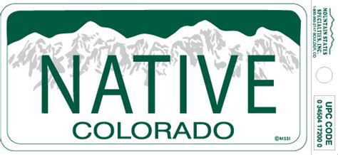 colorado native vinyl bumper stickerthe state colorado flag bumper