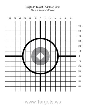 sight  target    grid airguns shooting