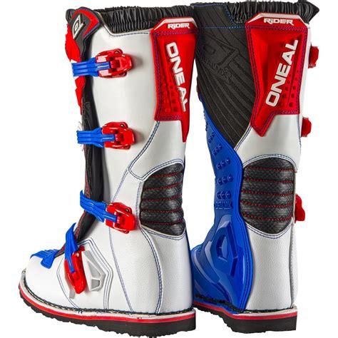 blue dirt bike boots oneal rider eu motocross boots mx off road dirt bike atv