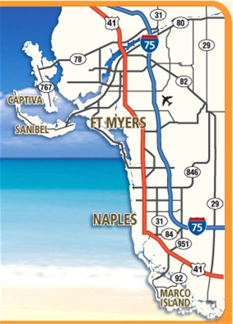 ft myers florida area maps interactive southwest florida