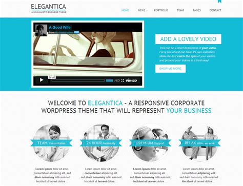 template full widht elegantica responsive business theme by
