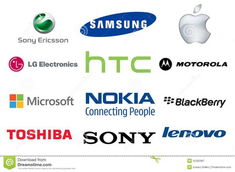 Royalty Free Stock Photography Mobile Phone Brands Logos
