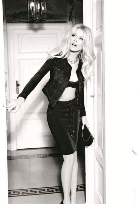 claudia schiffer  guess  anniversary feature