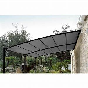 Toile De Jardin : toile de tonnelle privilege adossee 3x4 gris 922069 jardin piscine ~ Teatrodelosmanantiales.com Idées de Décoration