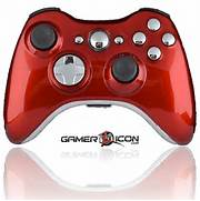 Xbox 360 Modded Controller Polished Red With Chrome Accents      Xbox 360 Controller Red Chrome