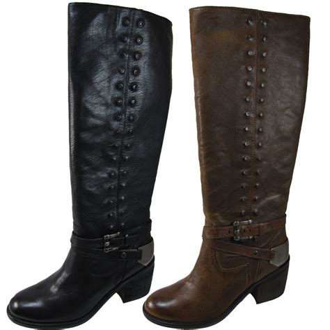 womens motorcycle riding boots with heels donald pliner womens bara brown or black fashion riding