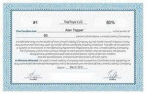 free stock certificate online generator With llc membership certificates