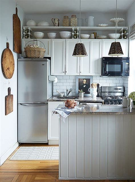 chic organization tips  pint size kitchens small