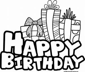 Best Birthday Clip Art Black And White #9156 - Clipartion.com