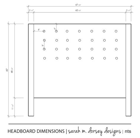 Sarah M Dorsey Designs Diy Headboard Complete 62 12 X