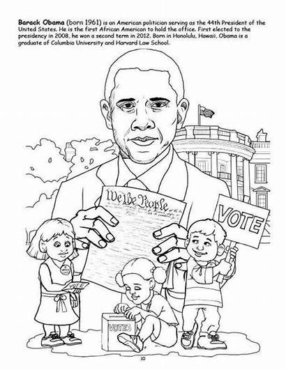 Coloring Obama African History Pages American Barack