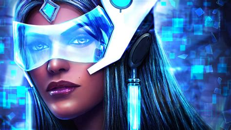 symmetra  overwatch artwork wallpapers hd wallpapers