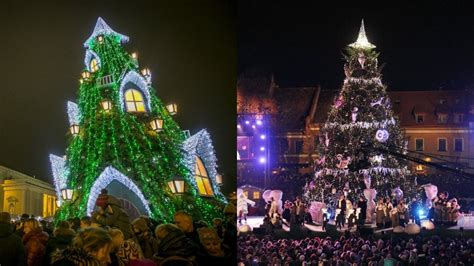 vilnius  kaunas light christmas trees endelfi