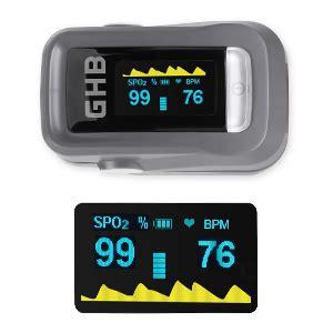 GHB Pulse Oximeter Finger Blood Oxygen Saturation Monitor