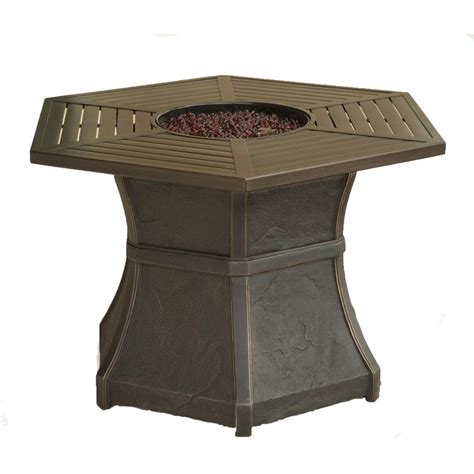 table top pit hanover aspen creek 19 in aluminum high top pit