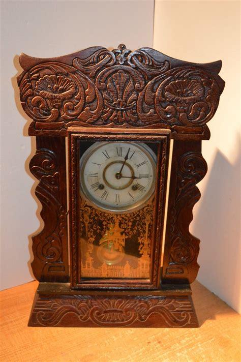 antique  haven gingerbread kitchen parlor mantle clock