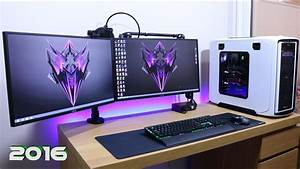Ultimate Clean Gaming Setup 2016  How Do I Manage My Cable Management Gu