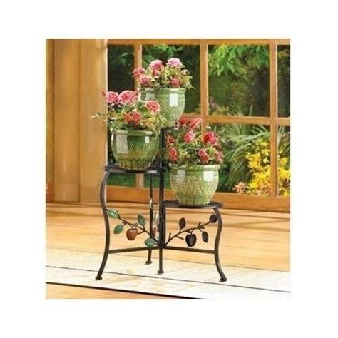 shelf flower pot plant stand wrought iron indoor outdoor