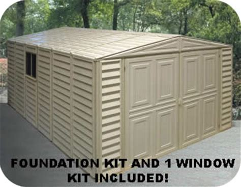 duramax sheds 10x21 vinyl storage garage with floor kit