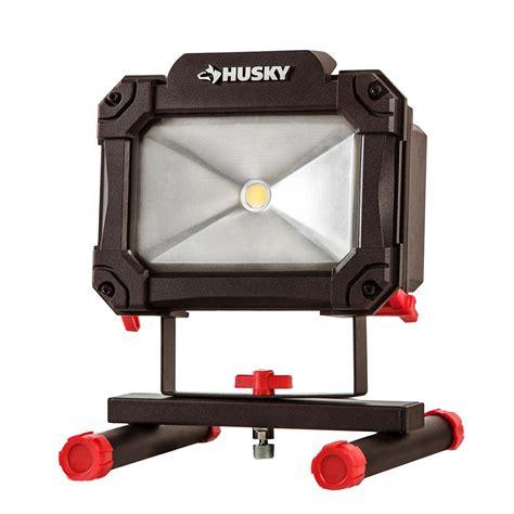 home depot led work light husky 1500 lumen rechargeable led work light k40067 the