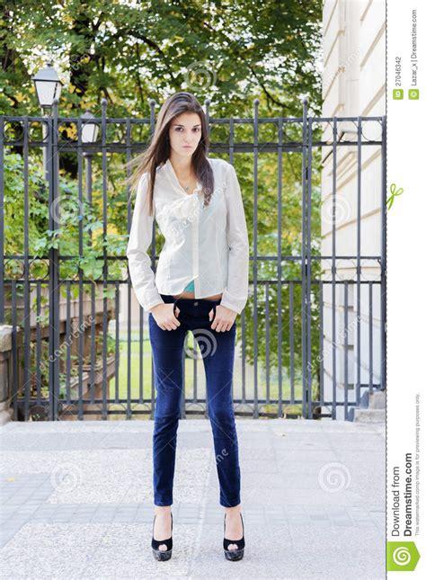 full length shot fashion model stock photo image