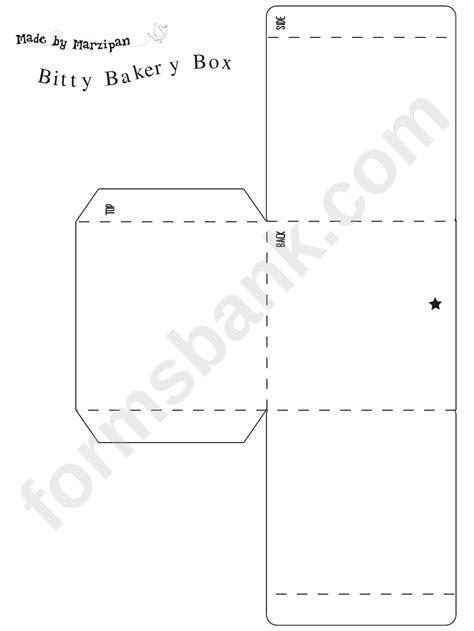 bitty bakery box template printable