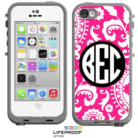 lifeproof cases for iphone 5c solid medallion monogrammed lifeproof 174 frē iphone 5c
