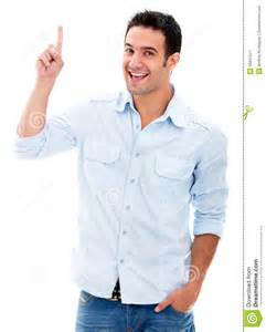 Man Pointing A Great Idea Stock Image - Image: 29247511