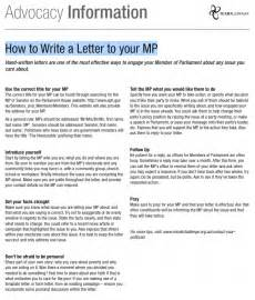 how to write an advocacy letter
