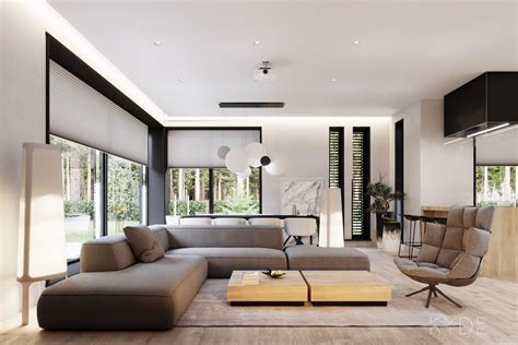 contemporary house design  indoor plants display