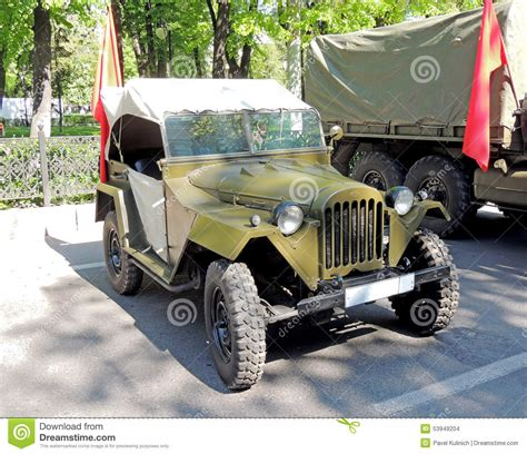 russian jeep ww2 soviet jeep gaz 67 editorial stock image image of