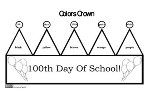 100th Day Of School Crown Template 100th Day Of School Crown