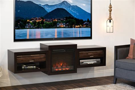 "Fireplace TV Stand For 60"" to 70"" TV   ECO GEO Espresso"