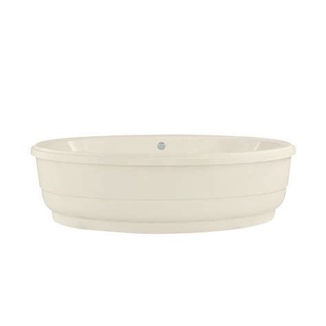 Biscuit Tub by Hydro Systems Santa Fe 6 Ft Center Drain Freestanding Air