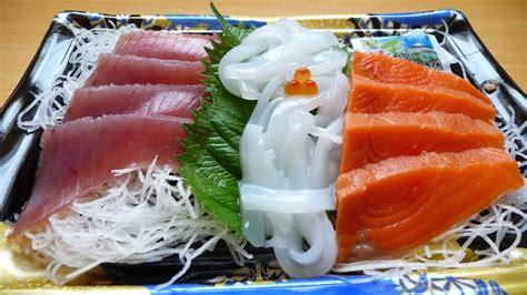 eating japanese food sashimi youtube
