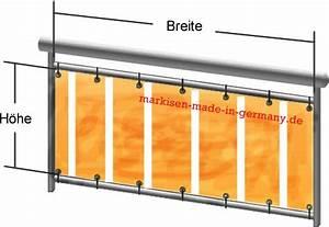 Balkonbespannung Nach Maß : balkonbespannung aus markisenstoff nach mass balkonumrandung in fachhandelsqualit t markisen ~ Watch28wear.com Haus und Dekorationen