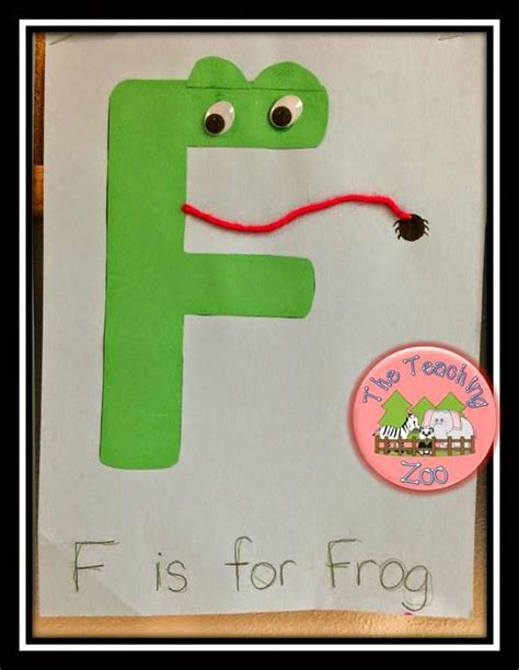 f is for frog letter of the week ff craft on the