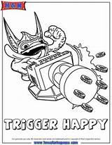 Coloring Pages Skylanders Trigger Happy Colouring Force Fire Birthday Books Skylander Swap 7th Fun Eruptor sketch template