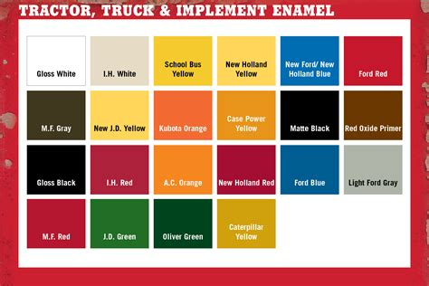 tractor paint color chart tractor supply colors majic paints