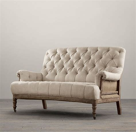 deconstructed french victorian settee restoration