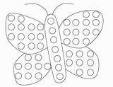 Dot Coloring Pages Bingo Gumball Machine Dauber Butterfly Printable Spring Dots Pre Paper Printables Sheets Painting Marker Worksheets Preschool Funnycrafts sketch template