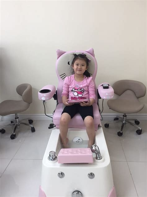 the kid is enjoin the hello pedicure spa chair yelp