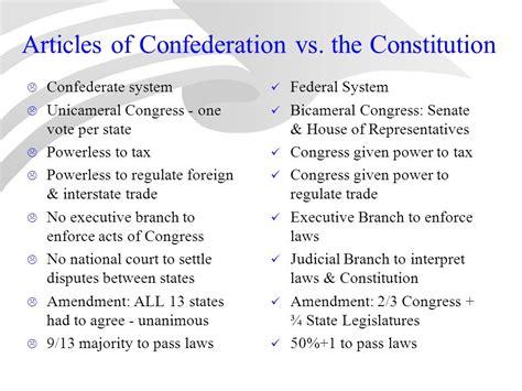 articles  confederation   constitution