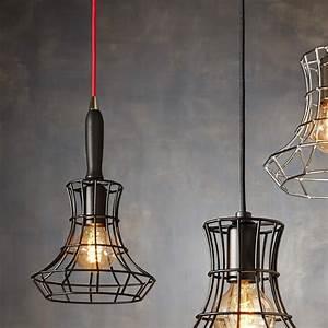 Suspension Luminaire Noir : suspension lady cage noir h37cm zava luminaires nedgis ~ Teatrodelosmanantiales.com Idées de Décoration