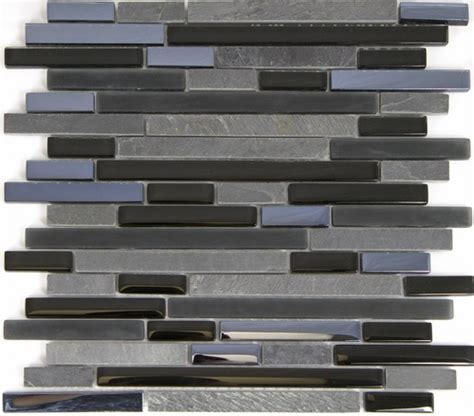 linear glass tile linear glass and stone mosaic tile gs4005 5 8 x linear strips sticks of glass tile and slate